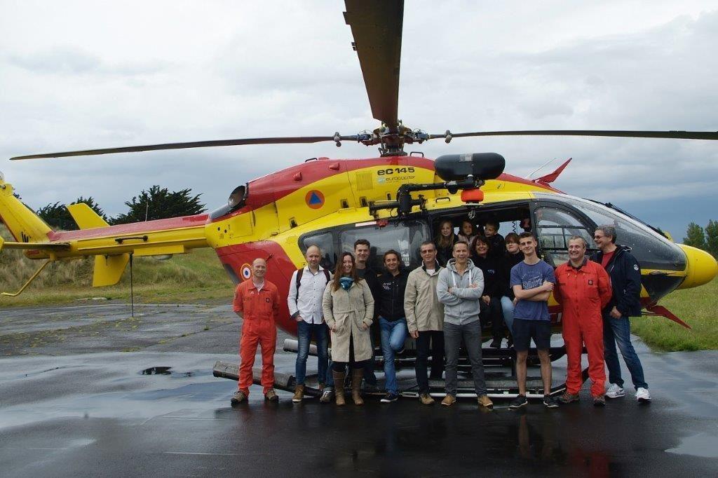 Visite de la base hélico (sécurité civile de Granville)